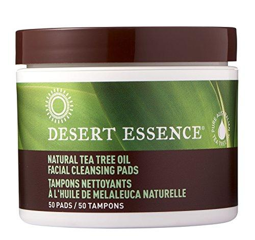Desert Essence Tea Tree Oil Facial Cleansing Pads - 50 Count