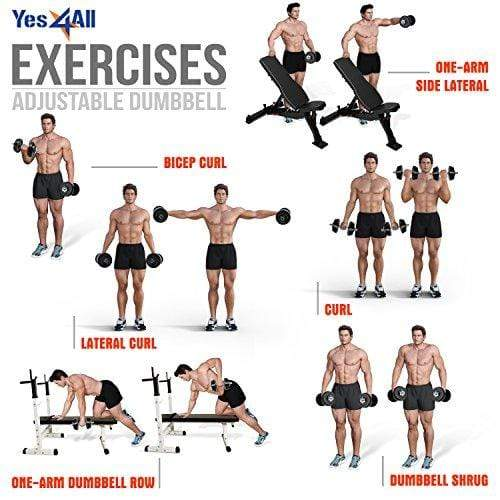 Yes4All Adjustable Dumbbells, 40.00 Pounds Sport & Recreation Yes4All