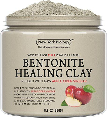 Bentonite Clay Mask Infused with Organic Apple Cider Vinegar – 100% Natural - Worlds First 2 in 1 Most Powerful Facial – All Natural Deep Pore Cleansing Helps Remove Impurities from The Skin