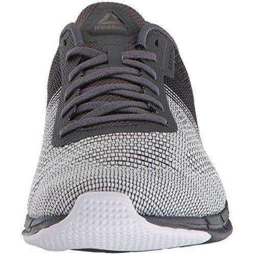 Reebok Men's Fast Flexweave Running Shoe, Ash Grey/Black/White, 10 M US Shoes for Men Reebok