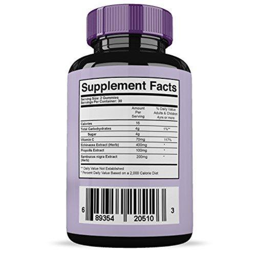 Sambucus Elderberry Gummies Supplement Nature's Essentials