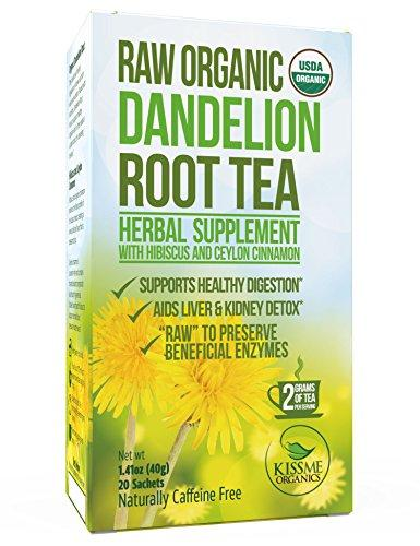 Organic Dandelion Root Tea Detox - Raw Vitamin Rich Digestive Food & Drink Kiss Me Organics