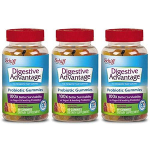 Digestive Advantage Daily Probiotic Gummies, 60 ct(Pack of 3)