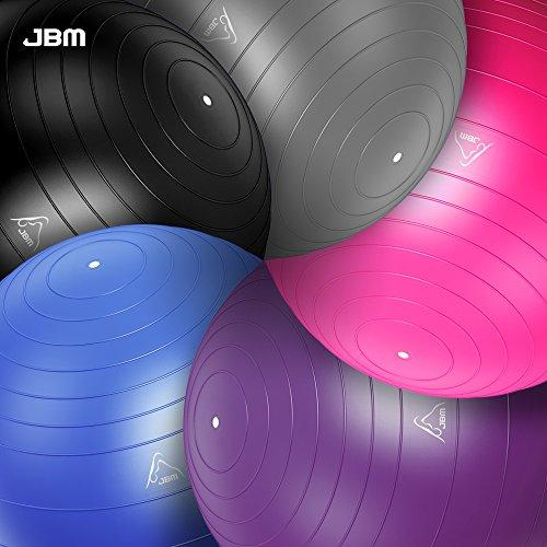 JBM Exercise Yoga Ball with Free Air Pump (3 Sizes, 5 Colors) Accessory JBM international