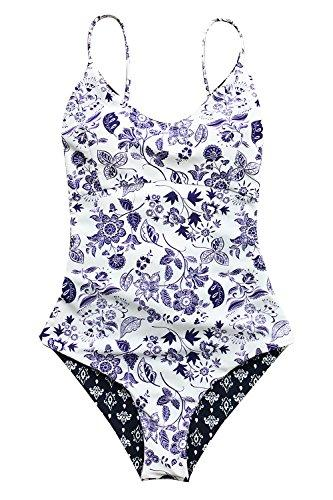 CUPSHE Light Up The Night Print One-Piece Swimsuit Beach Swimwear Bathing Suit (L)