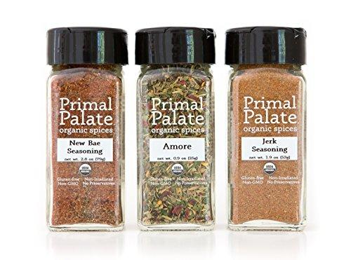 Organic Spices - Food Lovers Pack 3-Bottle Gift Set Food & Drink Primal Palate Organic Spices