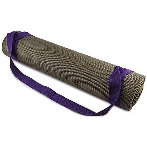 Fit Spirit Adjustable Cotton Yoga Mat Carrying Strap - Purple