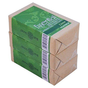 Bali Soap - Natural Bar Soap, Lime Essential Oil, 3.5 Oz each (Pack of 3)