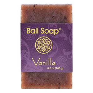 Bali Soap - Vanilla Natural Soap Bar, Face or Body Soap Best for All Skin Types, For Women, Men & Teens, Pack of 3, 3.5 Oz each