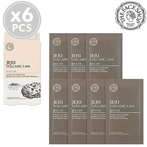 The Face Shop Eju Volcanic Lava Volcanic Ash Nose Strips (7 Strips X 6 Packs)