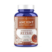 Ancient Apothecary Fermented Reishi Mushroom Supplement, 90 Capsules — Infused with Organic Essential Oils, Ashwagandha Extract and Digestive Bitters