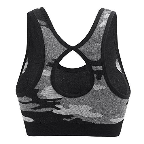 MIRITY Women Racerback Sports Bras - High Impact Workout Gym Activewear Bra Color Black Size L Activewear MIRITY