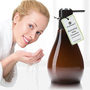 Gentle Calming and Resurfacing Face Wash - Acne Prone Skin - Milk Facial Cleanser With Lactic Acid, Tea Tree Oil, Vitamin E, Vitamin C, Squalane, and Salicylic Acid - 6.7 Ounces - Eve Hansen