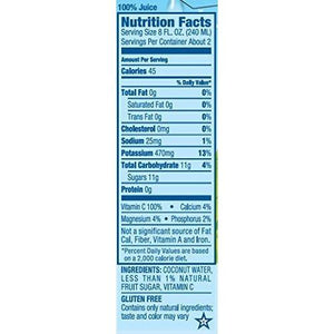 Vita Coco Coconut Water, Pure - Naturally Hydrating Electrolyte Drink - Smart Alternative to Coffee, Soda, and Sports Drinks - Gluten Free - 16.9 Ounce (Pack of 12)