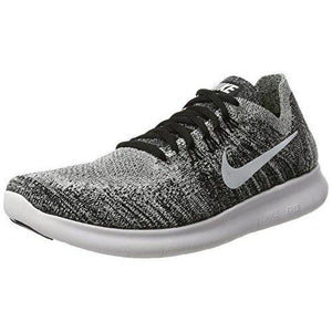 NIKE Womens Free RN Flyknit 2017 Running Shoes Black/Volt/White 880844-003 Size 8.5