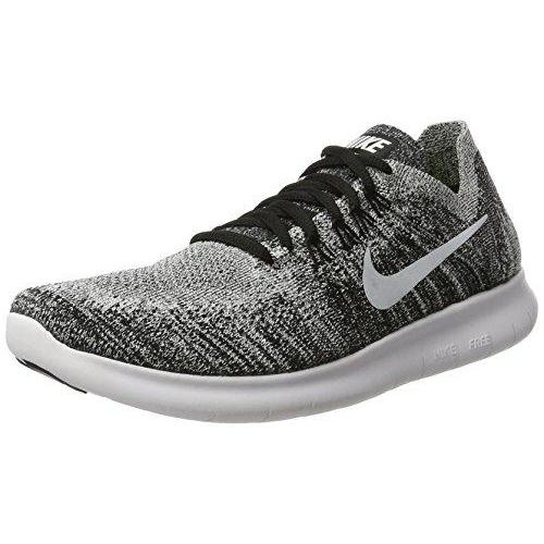 new arrival 3c5e8 8ff33 NIKE Womens Free RN Flyknit 2017 Running Shoes Black/Volt/White 880844-003  Size 8.5