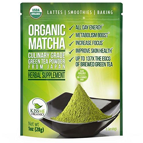 Organic Matcha Green Tea Powder - Powerful Antioxidant Japanese Culinary Grade Food & Drink Kiss Me Organics