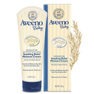 Aveeno Baby Soothing Relief Moisturizing Cream with Natural Oat Complex for Sensitive Skin, 8 oz