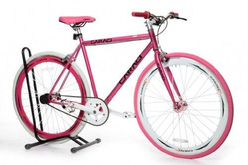 Caraci CBF2ST53PK Steel Frame Fixed Gear Bike, Pink, 53cm
