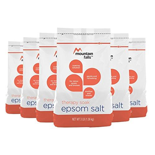 Mountain Falls Epsom Salt Therapy Soak, Rosemary, Peppermint and Spearmint Scented, 3 Pound (Pack of 6)