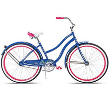 Huffy 26 Fairmont Womens Cruiser Bike, Blue, Perfect Fit Frame