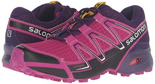 Salomon Women's Speedcross Vario W-W Trail Runner, Deep Dahlia/Black/Cosmic Purple, 5 B US
