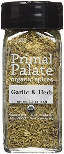Organic Spices Garlic & Herb, Certified Organic Food & Drink Primal Palate Organic Spices