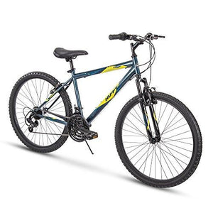 "Huffy 26"" Summit Ridge Mens 21-Speed Hardtail Mountain Bike, Denim Blue Gloss"