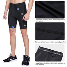 Baleaf Men's 3D Gel Padded Cycling Bike Shorts Tights Quick Dry UPF 50+ Black Size M