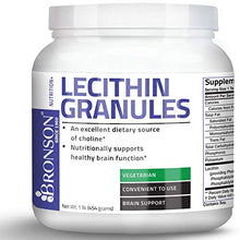 Bronson Lecithin Granules (Powder) 7500 MG, 1 Lbs (454 Grams, or 16 Ounces)