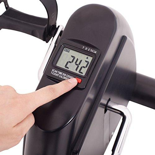 Goplus Pedal Exerciser LCD Display Cycling Fitness Leg Machine Stationary Under Desk Mini Exercise Bike Sport & Recreation Goplus