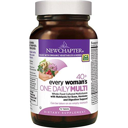 New Chapter Every Woman's One Daily 40+, Women's Multivitamin Fermented with Probiotics + Vitamin D3 + B Vitamins + Organic Non-GMO Ingredients - 72 ct New Chapter