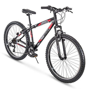 "Huffy 27.5"" Tekton Mens 21-Speed Hardtail Mountain Bike, Aluminum Frame, Oversized Tires, Matte Black"