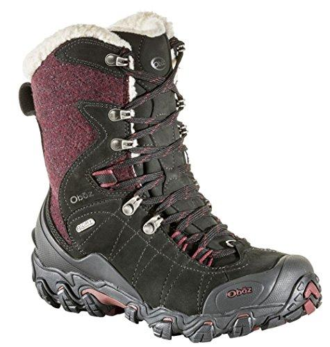 "Oboz Bridger 9"" Insulated B-Dry Hiking Boots - Women's Winterberry Red 8"