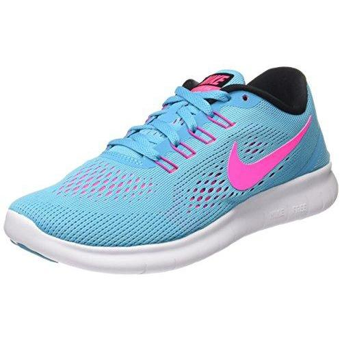 Nike Womens Wmns Free RN, GAMMA BLUE/BLACK-PINK BLAST-PHOTO BLUE, 11 US Shoes for Women NIKE