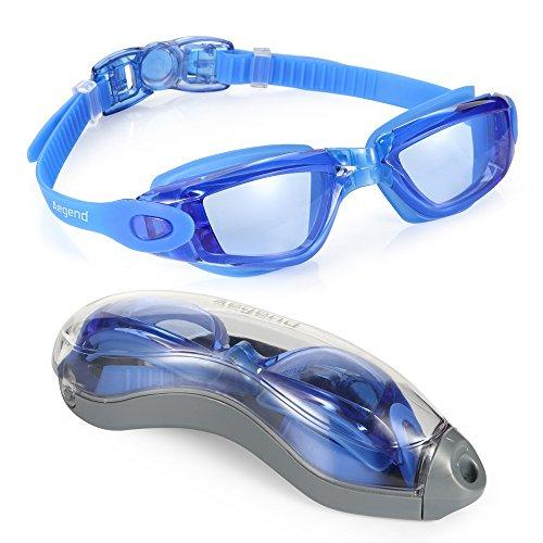 Aegend Swim Goggles, Swimming Goggles No Leaking Anti Fog UV Protection Triathlon Swim Goggles with Free Protection Case for Adult Men Women Youth Kids Child, Multiple Choice Swim Goggles Aegend