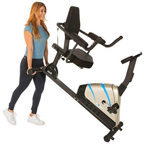 Exerpeutic 2000 High Capacity Programmable Magnetic Recumbent Bike with Air Soft Seat and Heart Pulse Sensors Sport & Recreation Exerpeutic