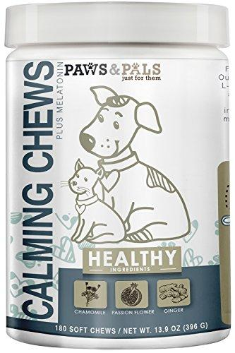 Paws & Pals Calming Soft Chews for Dogs - Aniexty Composure Supplement Support Formula - Stress Reliver for Pets Cats - 180 Count Animal Wellness Paws & Pals