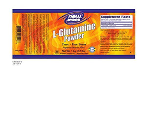NOW Sports L-Glutamine Powder, 1-Kilogram