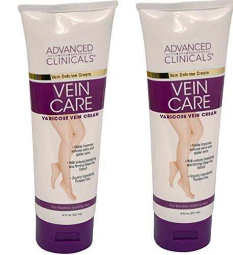 Advanced Clinicals Vein Care- Eliminate The Appearance of Varicose Veins. Spider Veins. Guaranteed Results! (Two - 8oz)