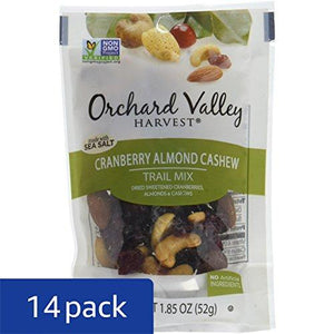 Cranberry Almond Cashew Trail Mix, Non-GMO, No Artificial Ingredients (Pack of 14)