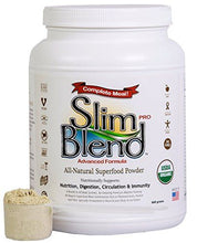 Slim Blend PRO - 840 grams of Vegan Protein Powder, 32+ Organic Superfoods, Plant Based, Non-GMO, Gluten Free, Dairy Free, Cholesterol Free, Soy Free, Whey Free, Nutritional Shake