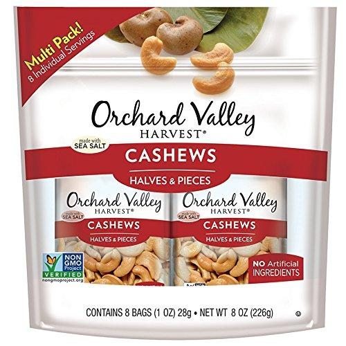 ORCHARD VALLEY HARVEST Cashew Halves & Pieces Multi Pack, 8 oz