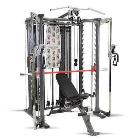Smith System/Cage System/Functional Trainer (All in One Gym) (Inspire SCS System (With Bench)) Sport & Recreation Inspire Fitness