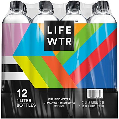 Premium Purified Water, pH Balanced with Electrolytes For Taste, 1 liter bottles - Pack of 12Packaging May Vary) Food & Drink LIFEWTR