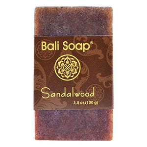 Bali Soap - Sandalwood Natural Soap Bar, Face or Body Soap Best for All Skin Types, For Women, Men & Teens, Pack of 12, 3.5 Oz each