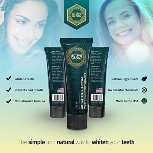 Teeth Whitening Charcoal Toothpaste Beauty & Health Active Wow