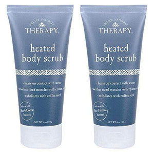 Village Naturals Therapy, Body Scrub, Heated for Aches & Pains, 6 oz, Pack of 2
