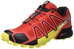 6c1a39687c9 Salomon Men's Speedcross 4 Trail Running Shoes Radiant Red/Black / Corona  Yellow 10