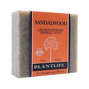 Sandalwood 100% Pure & Natural Aromatherapy Herbal Soap- 4 oz (113g)